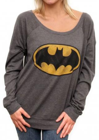 Batman Printed Long Sleeve Sweatshirt