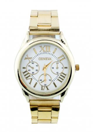 Women Gold Stainless Steel Wrist Watch