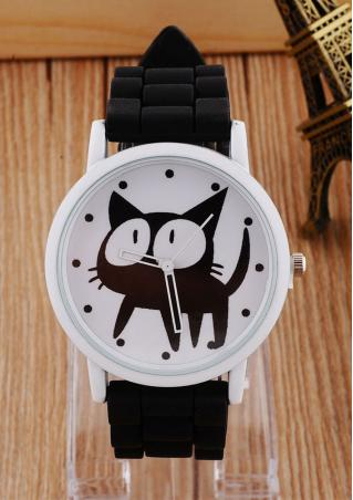 Big Eye Cat Silicone Wrist Watch