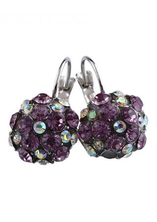 Purple Double Lawyers Earrings