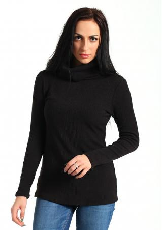 Solid Knitted Long Sleeve Sweater