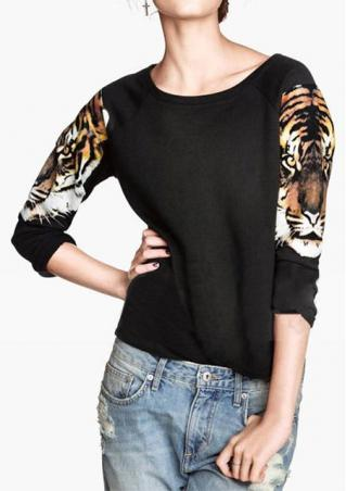 Tiger Printed Long Sleeve T-shirt