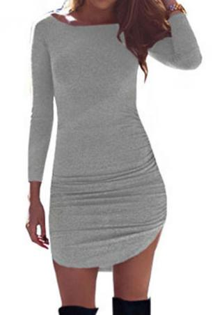 Solid Irregular Bodycon Mini Dress