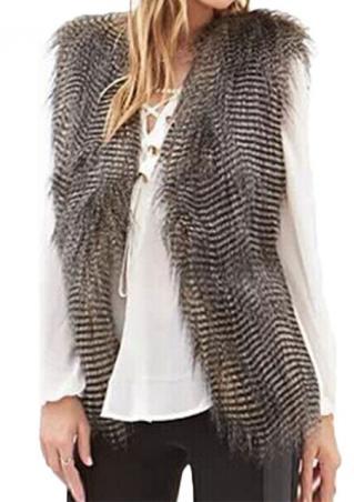 Faux Fur Fashion Sleeveless Waistcoat