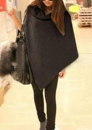 Solid Fashion Wrapped Pashmina Coat