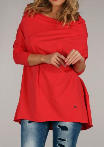 Bluză de damă, fashion, din poliester, cu mâneci lungi și guler secționat