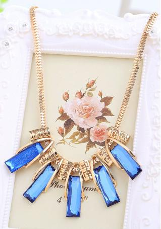 Crystal Pendants Royalblue Choker Necklace