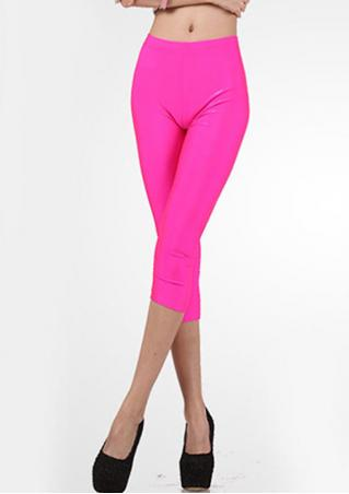 Solid Slim Stretchy Short Leggings