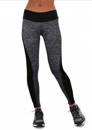 Splicing Stretchy Casual Yoga Leggings