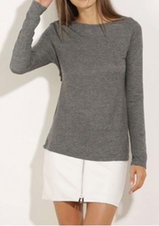 Solid Backless Irregular Casual Sweatshirt Solid