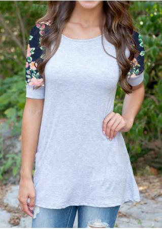 Floral Casual Short Sleeve T-Shirt