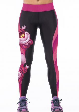 Printed Cartoon Tiger Elastic Bodycon Yoga Pants