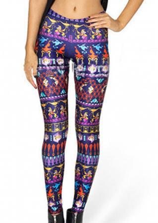 Printed Skinny Fashion Pencil Pants Printed