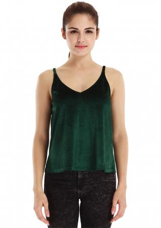 Solid Slim Tank Top Camisole