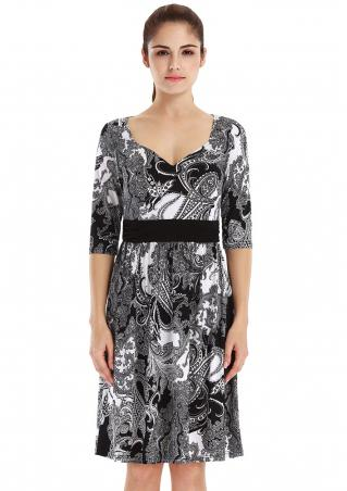 Printed Half Sleeve Fashion Dress