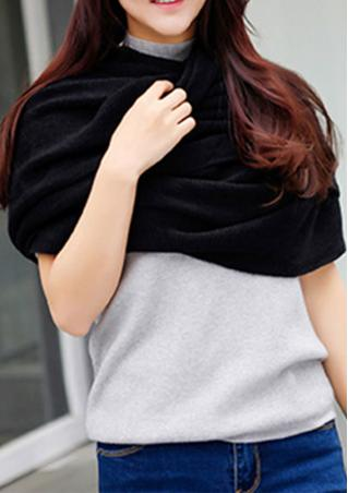 Solid Knitted Soft Warm Fashion Scarf