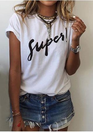 Letter Short Sleeve Fashion T-Shirt