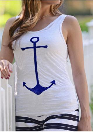 Boat Anchor Printed Casual Tank