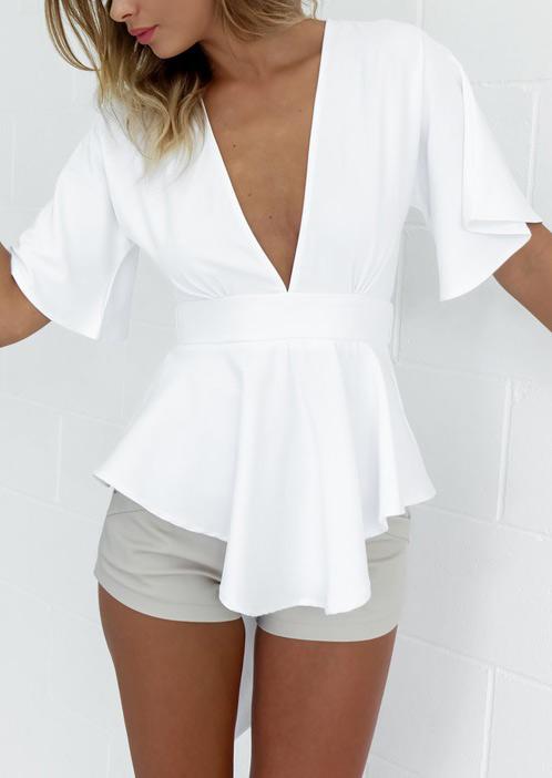 Women'S 'Sterling' Dress Blouse (White) 42