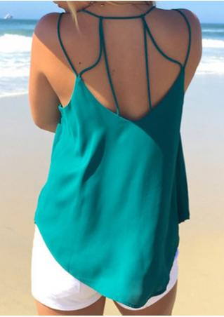 Solid Backless V-Neck Fashion Camisole