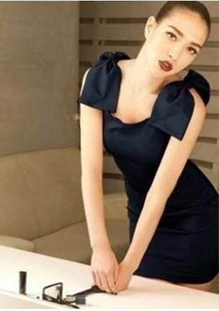 Solid Bowknot Sleeveless Cute Mini Dress