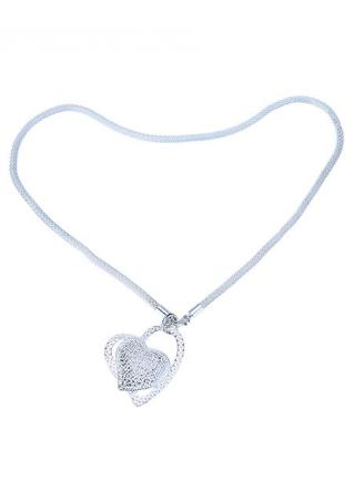 Heart Shaped Trendy Pendant Necklace