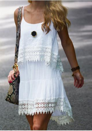 Solid Lace Strap Dress Without Necklace
