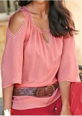 Splicing Off Shoulder Fashion Blouse