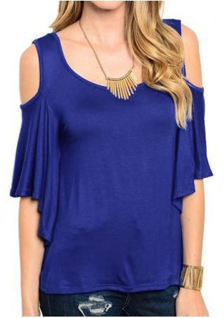 Solid Off Shoulder Backless Blouse Without Necklace
