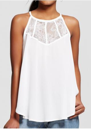 Solid Lace Splicing O-Neck Fashion Blouse