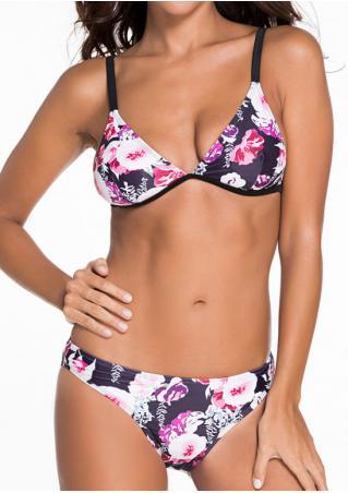 Floral Spaghetti Strap Alluring Bikini Set Floral