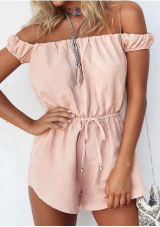 Solid Slash Neck Fashion Romper Without Necklace