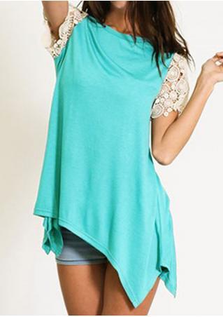 Lace Splicing Irregular Fashion T-Shirt