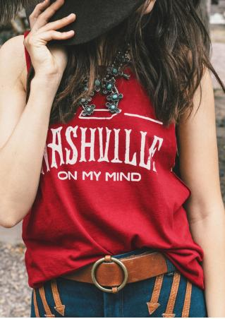 Letter Printed Fashion Tank Without Necklace