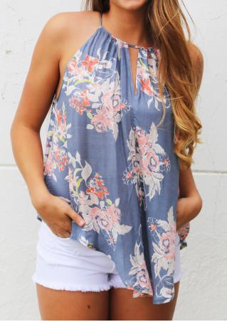 Floral Hollow Out Fashion Camisole Floral