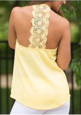 Solid Lace Backless Fashion Camisole Solid