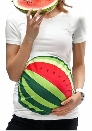 Printed Maternity Fashion T-Shirt Printed