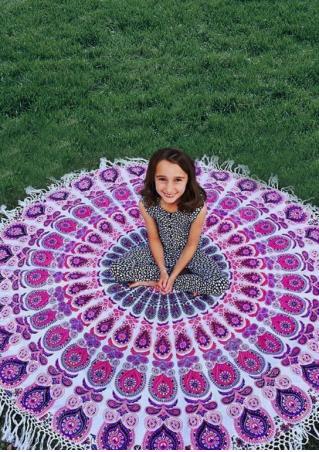 Mandala Printed Round Picnic Blanket