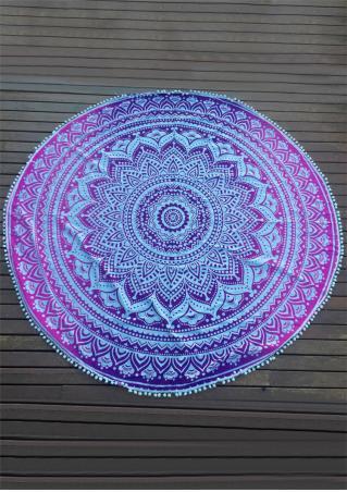 Mandala Pattern Tassel Round Beach Blanket