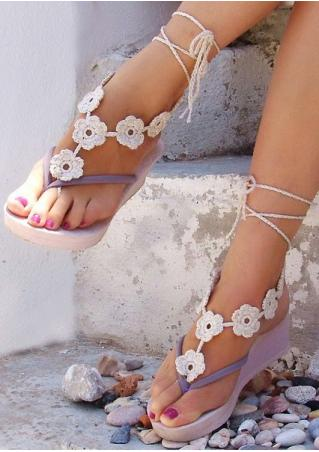 Flower Crochet Trendy Barefoot Sandals