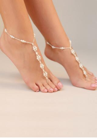 Imitation Pearl Barefoot Sandals