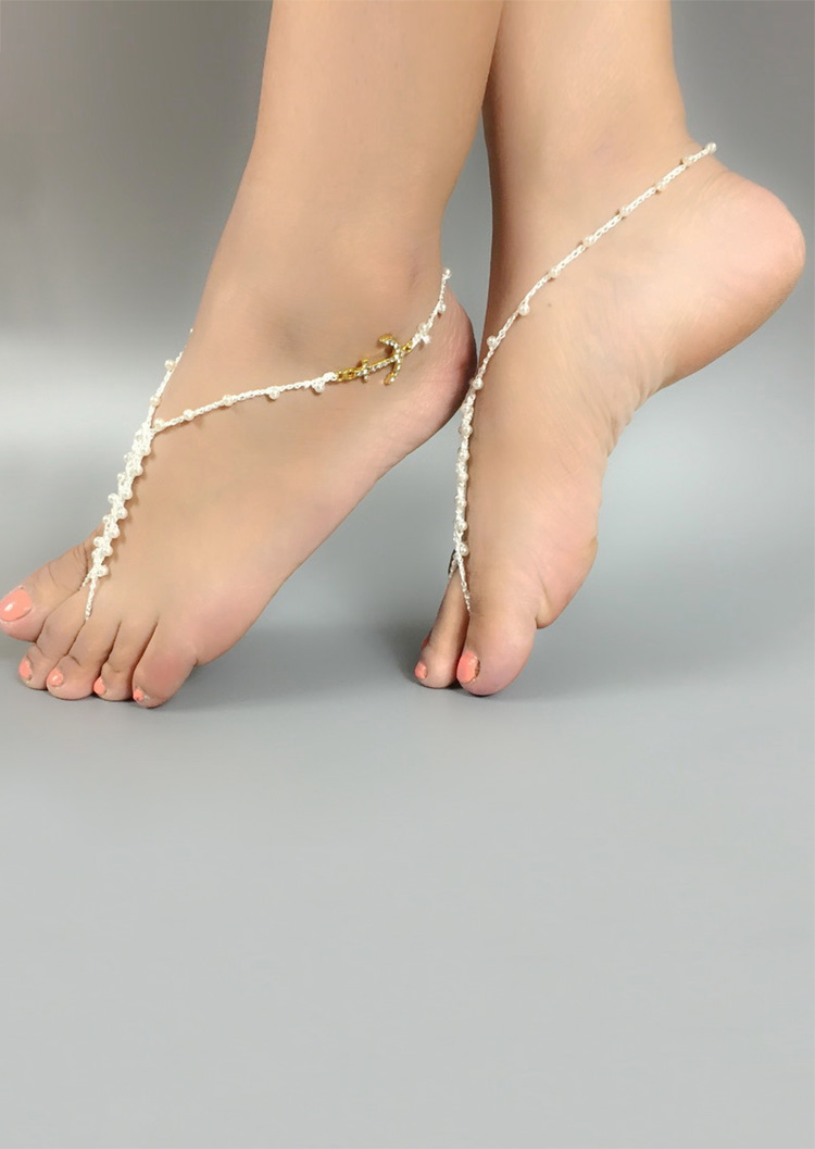Image of Imitation Pearl Anchor Starfish Barefoot Sandals