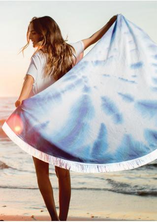 Tie Dye Printed Round Beach Blanket Brandless