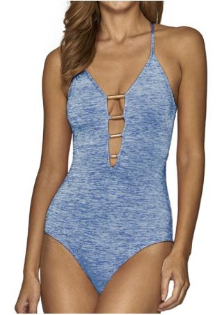Backless Cross Sexy One-Piece Swimsuit