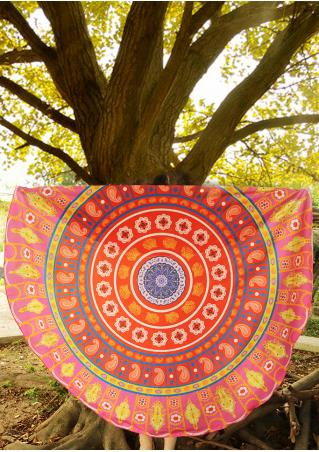 Multicolor Printed Round Blanket