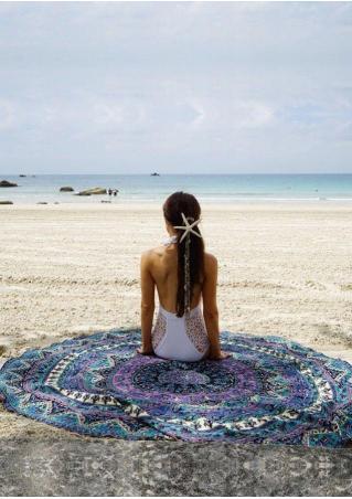 Mandala Multicolor Round Beach Blanket Brandless