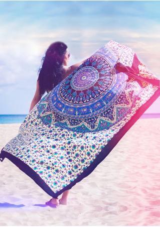 Mandala Multicolor Rectangle Beach Blanket Brandless