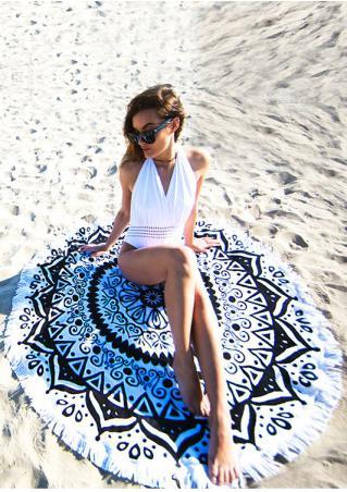 Printed Tassel Round Beach Blanket Brandless