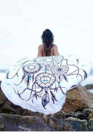 Dream Catcher Printed Round Beach Blanket