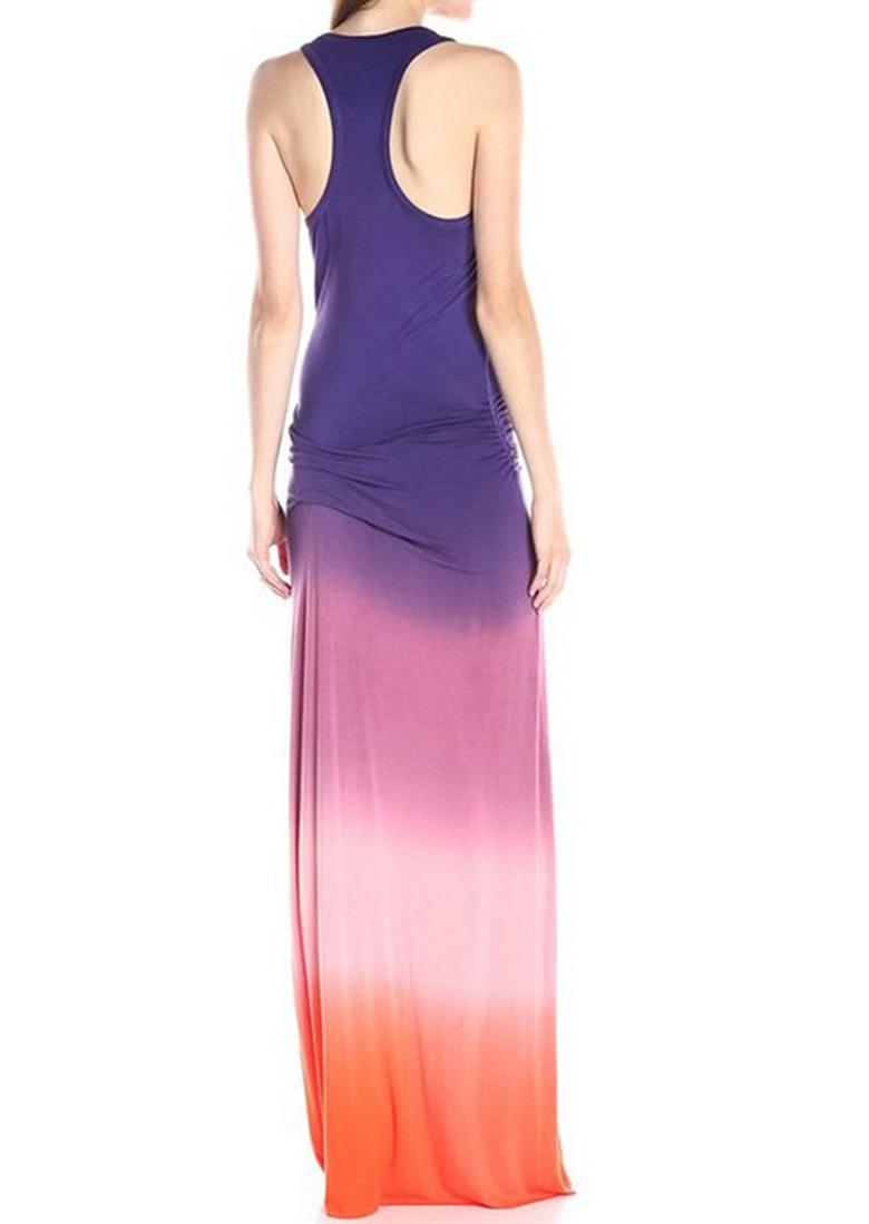 Tie Dye Printed Casual Maxi Dress - Fairyseason